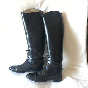 """Shoes - Leather Riding Boots Black 20"""" Made In USA"""